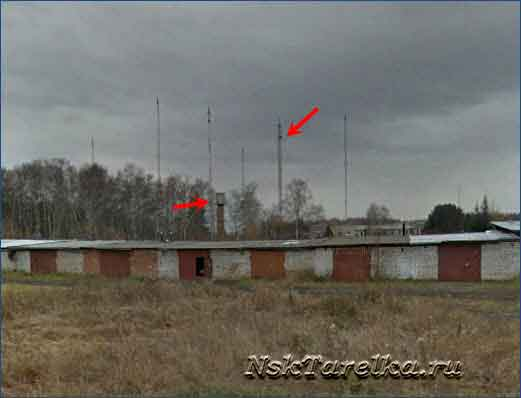 Водонапорная башня и базовая станция оператора
