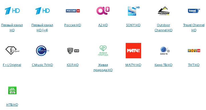 HD каналы пакет Лидер
