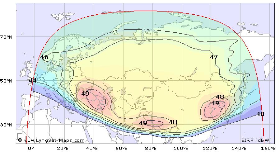 Карта покрытия для Радуга ТВ